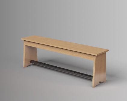 ספסל ללא משענת